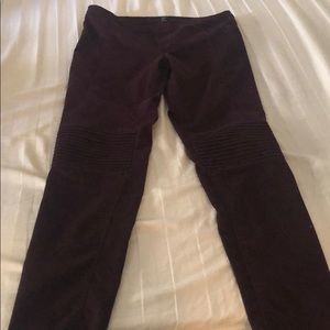H&M burgundy Moto jeggings